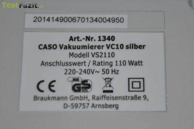 Caso VC 10 Vakuumierer im Test